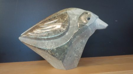 Partridge Family - realistic stone sculpture - animals