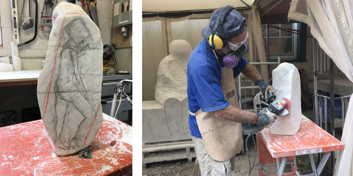 Stone Carving in Progress